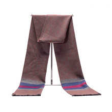New Autumn And Winter Mens Scarves Thickened Warm Grid Casual Business Cotton Spot
