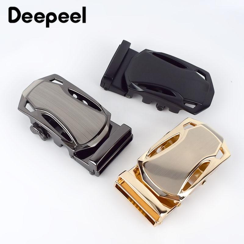 Deepeel 3pcs 35mm Fashion Alloy Men Belt Buckles Automatic Buckle Head For 33-34mm Belt DIY Leather Craft Decorative Hardware