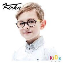 Kirka Flexible Kids Glasses Acetate Frame Child Round Glasses Boy Eyewear Frames For Kids Children Eyeglasses Frame Optical