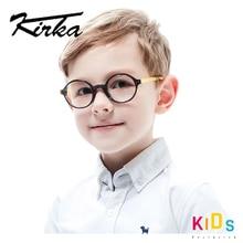 Kirka flexível crianças óculos quadro acetato criança óculos redondos menino óculos quadros para crianças óculos quadro ótico
