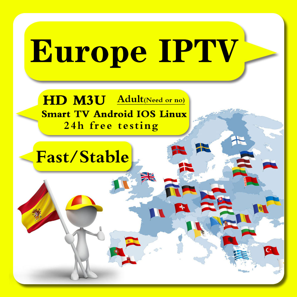 European IPTV HD Live / On-demand Adult Portuguese Italy Italy Germany Spain Netherlands Germany M3U Android IPTV 24h Free Test
