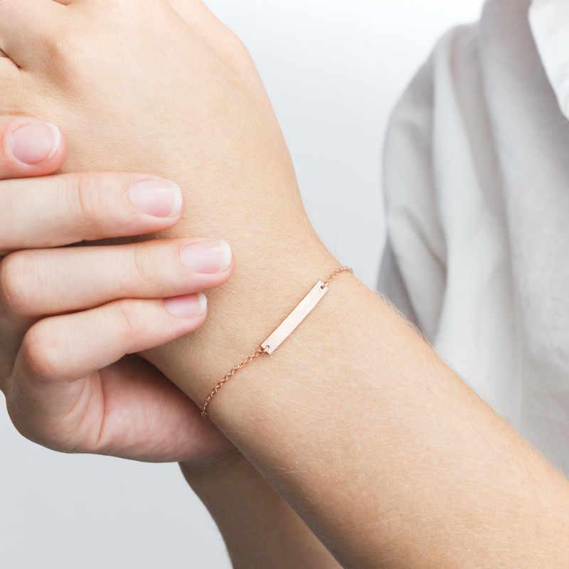 DIY แฟชั่น POP สุภาพสตรีสแตนเลสสร้อยข้อมือ Love/Pearl/รอบ Charm สร้อยข้อมือมิตรภาพเครื่องประดับที่กำหนดเอง