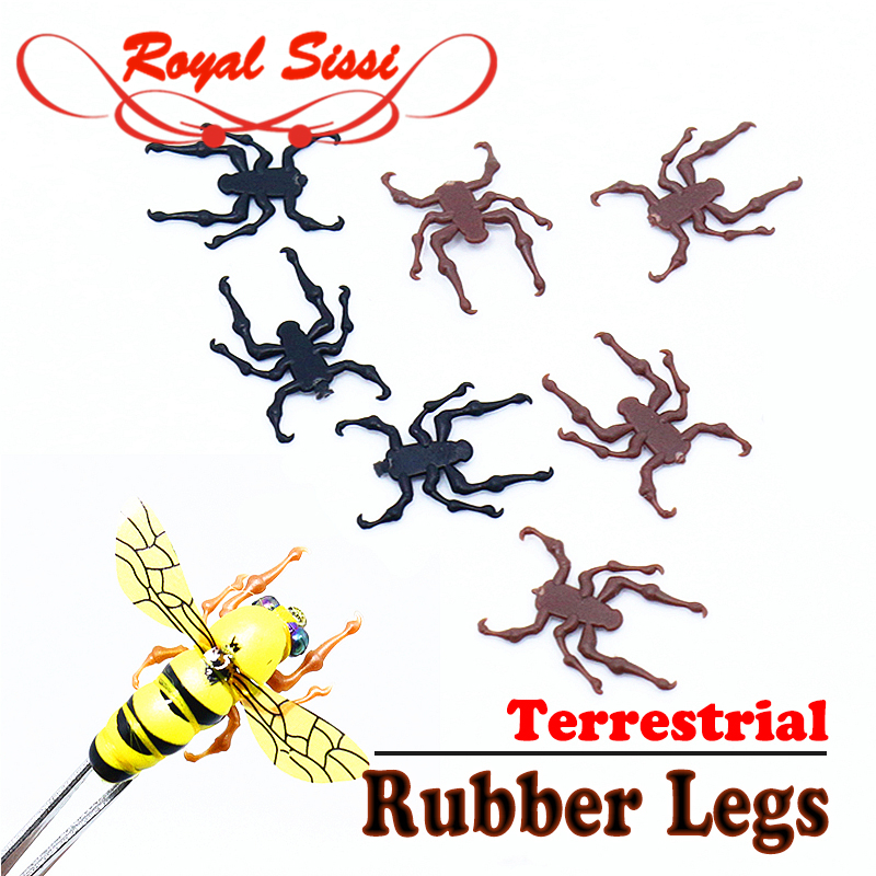 Royal Sissi New 20pcs Pack Realistic Honeybee Rubber Legs DIY Fly Fishing Lures Fly Tying Materials Terrestrial Insect Lure Bait