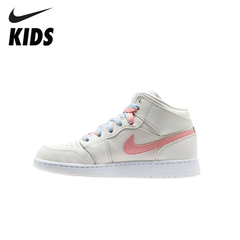 Air Jordan 1 Original New Arrival Kids Shoes High Children Basketball Shoes Comfortable Outdoor Sports Sneakers #640737-035