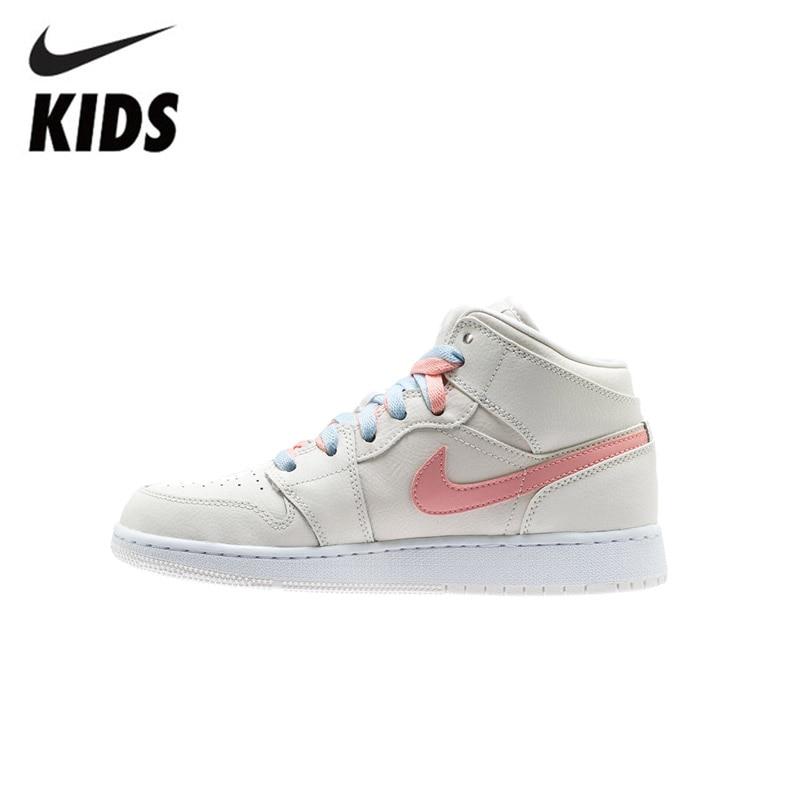 Air Jordan 1 Original New Arrival Kids Shoes High Children Basketball Shoes Comfortable Outdoor Sports Sneakers #640737-035