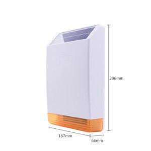 Image 3 - Focus 433Mhz 868Mhz تردد MD 326R اللاسلكية الخارجية ستروب فلاش صفارة الإنذار بالطاقة الشمسية مع 110dB أصوات كبيرة مزعجة