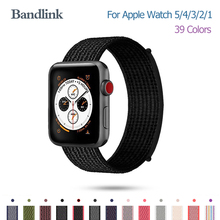 Nylon Watch band For iWatch 5 4 3 2 1 Apple 38mm 40mm Soft Breathable Strap Loop for watch 42mm 44mm