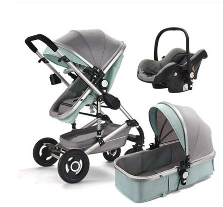 Baby Stroller With High View Can Be Sitting, Lying, Folding, Bi-directional Shock Absorber For Newborns, Baby Stroller For Child