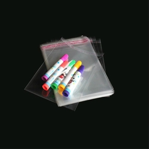 Image 2 - 500pcs 10*18cm Transparent Self Sealing Plastic Bag Jewelry Gift Bags Cookie OPP Pack Bag Cellophane Home Wedding Decoration