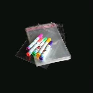 Image 2 - 500pcs 10*18cm 투명 셀프 씰링 비닐 봉투 쥬얼리 선물 가방 쿠키 opp 팩 가방 셀로판 홈 웨딩 장식