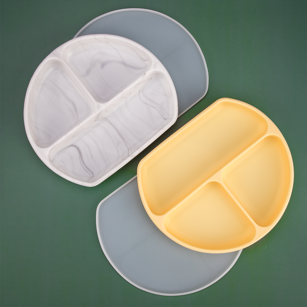 1set Silicone Baby Feeding Bowl Tableware Waterproof Spoon Non-Slip crockery BPA Free Silicone Dishes For Baby Bowl Baby Plate 1