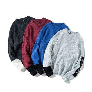 Image 3 - SingleRoad 두꺼운 스웨터 남자 2019 겨울 양모 옷 니트 풀오버 캐시미어 스웨터 남성 느슨한 패션 점퍼 고품질