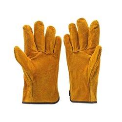 Para/zestaw ognioodporne wytrzymałe rękawice spawalnicze ze skóry bydlęcej anty-termiczne rękawice ochronne do spawania metalowa ręka narzędzia