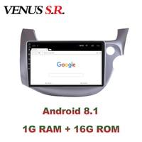 VenusSR Android 8.1 2.5D car dvd for Honda Fit Jazz 2008 2013 Right Hand Driver RHD multimedia GPS Radio stereo gps navigation