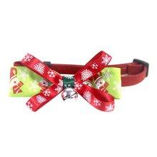 Рождественские вечерние галстуки бабочки для домашних животных