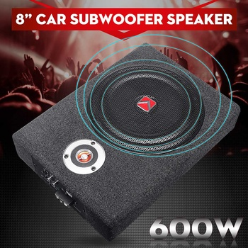 600W 8 Inch Car Subwoofer Speaker Alloy Shockproof Power Amplifier Car Universal Stereo High Fidelity Car Audio Music Player