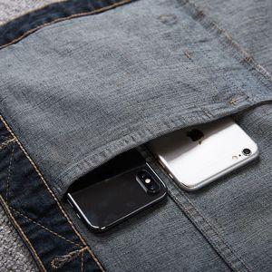 Image 5 - الرجال سترة جينز الرجال الربيع الأزرق في الهواء الطلق متعددة جيب سترة بلا أكمام 8XL 7XL 6XL 5XL سترة جينز حجم كبير وسيم المد