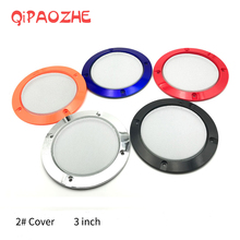3 بوصة ملونة استبدال مكبرات صوت دائرية واقية شبكة صافي غطاء مصبغة دائرة معدنية مكبر صوت الملحقات