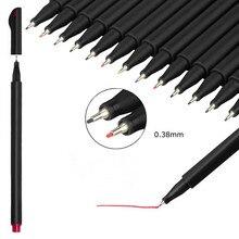 12Pcs/Set Colorful Fineliner Set 0.38mm Sketching Markers Drawing Pen For Manga Cartoon Advertising Design Art Water Color Pens