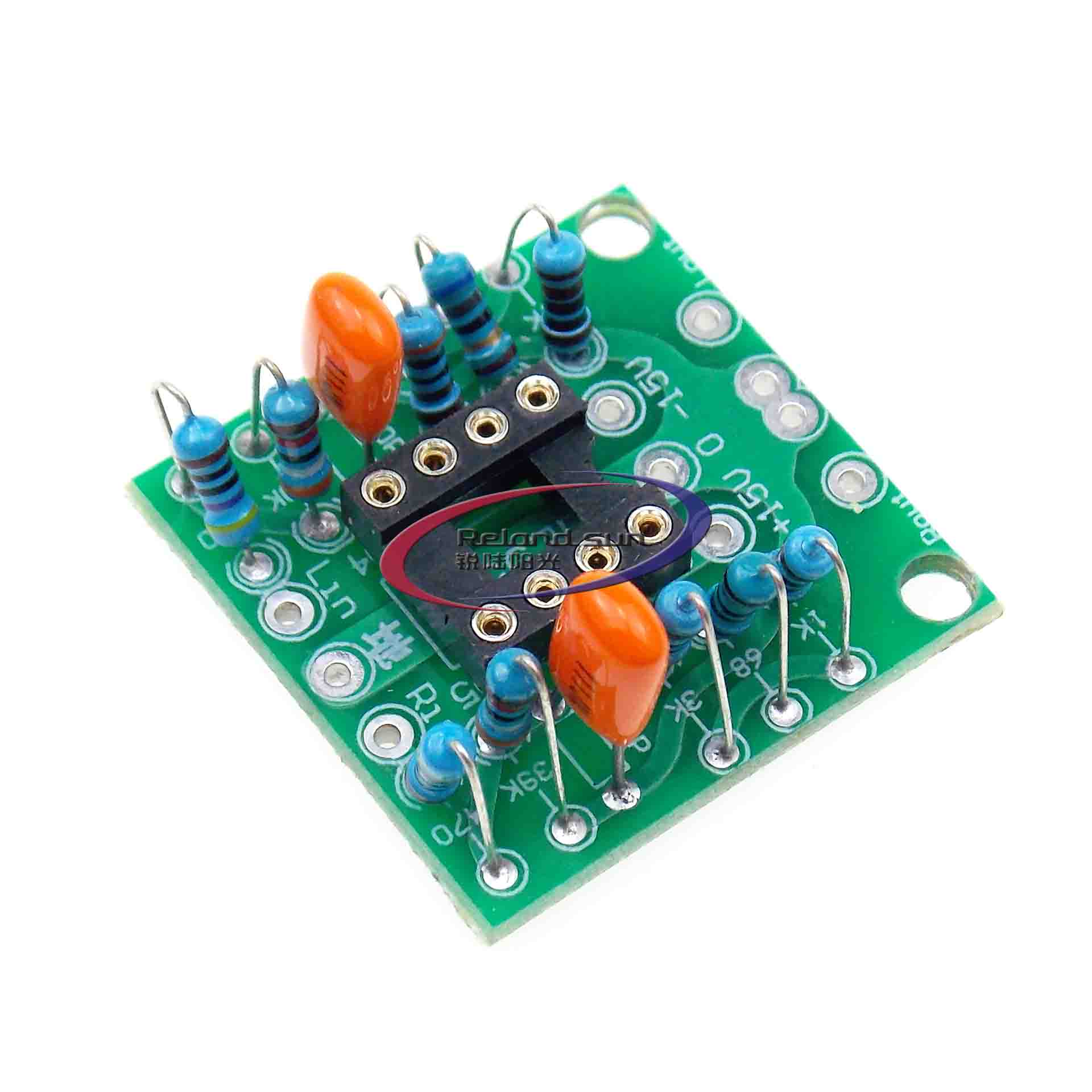 Dual OP Amp Board Preamp DC Amplification <font><b>Amplifier</b></font> PCB Board For NE5532/<font><b>OPA2134</b></font>/OPA2604/AD826 image
