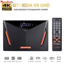 Gtmedia V8 UHD 4k satellite TV Receiver DVB S S2 DVB T2 Builting wifi unterstützung H.265 DVB-S/S2/S2X + T/T2/Kabel/ATSC-C/ISDBT TV Box