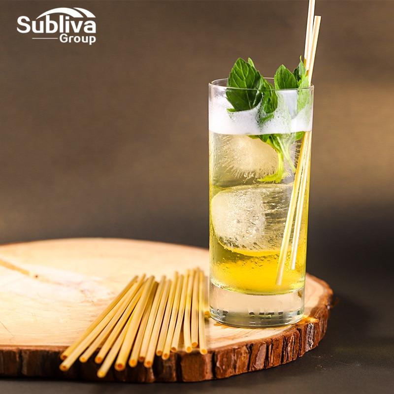 1000pcs 20cm Natural Wheat Straw Reusable Drinking Straws 100% Natural Biodegradable Straws Environmentally Friendly