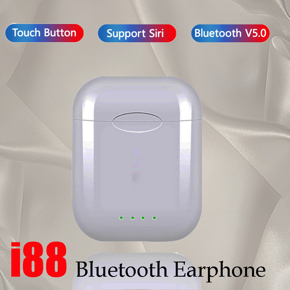 New i88 TWS Earbuds Wireless Bluetooth <font><b>Earphone</b></font> 5.0 Touch Control Sports <font><b>Gaming</b></font> <font><b>Earphones</b></font> Headset <font><b>with</b></font> dual <font><b>microphone</b></font> Stereo image
