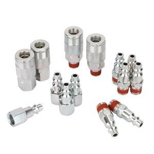 Image 2 - 14 pezzi 1/4 Inch Npt Quick Connect Air Accoppiatore E Spina Kit per Compressore Daria Accessori Raccordi