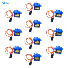 цена на 10pcs Airplane 9g SG90 Mini Servo with Accessories For 450 RC Helicopter Airplane Car Boat DIYmall