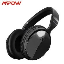 Orijinal Mpow H5 2nd nesil ANC kablosuz bluetooth kulaklık kablolu/kablosuz mikrofon ile taşıma çantası iPhone için iPhone Huawei Xiaomi