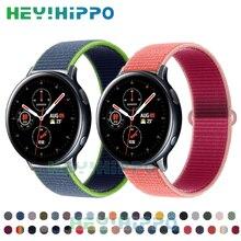 20mm nylonowy pasek do zegarka Samsung aktywny 2 40mm 44mm inteligentny zegarek bransoletka do zegarka Galaxy 3 41mm 42mm biegów S2 tkane watchband
