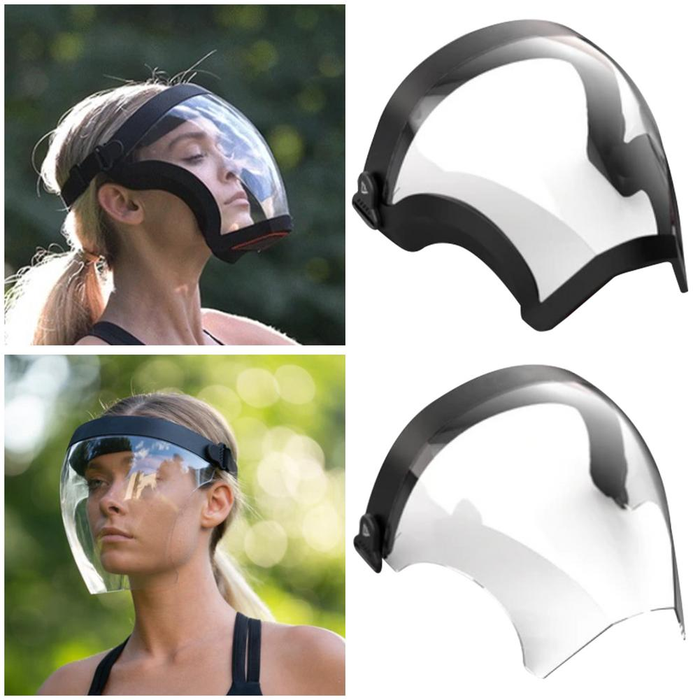 Full Protective Face Wear Clear Hooded Hat Adults Face Shield Reusable Removable Unisex Outdoor Motorcycle Face Mask Dropship