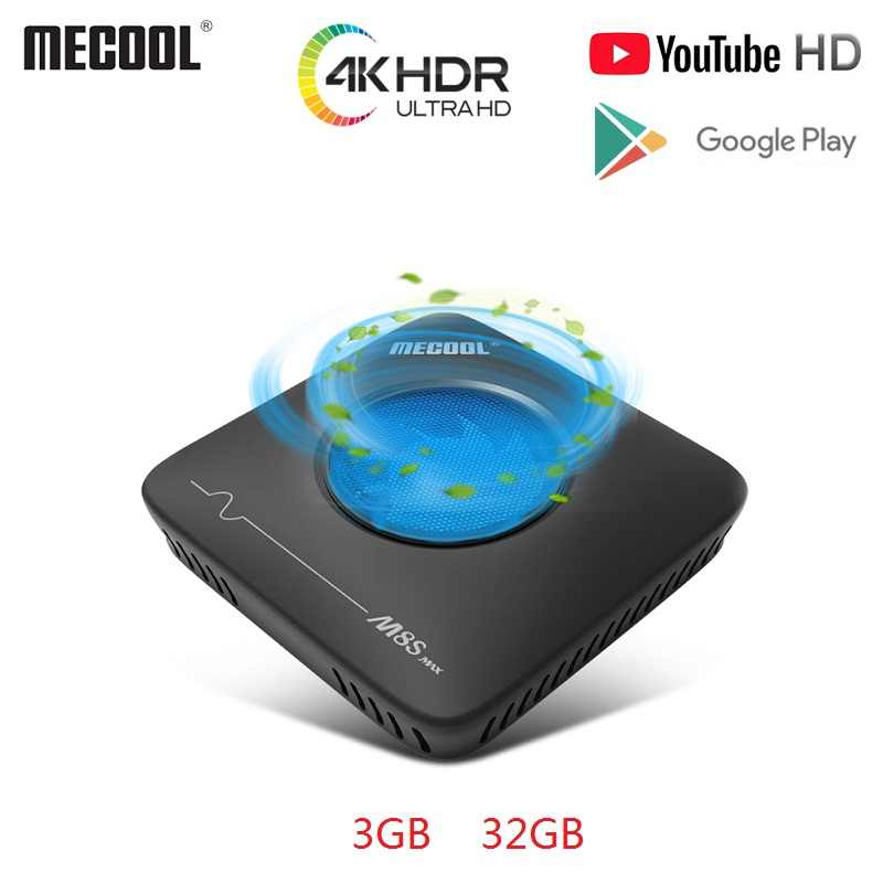 Mecool M8S Smart TV Box Max Android7.1 Amlogic S912 3GB + 32GB 2.4G 5.8G Dual Wi Fi BT4.0 Set Top Box 4K Ultra HD VP9 H.265 TV Box