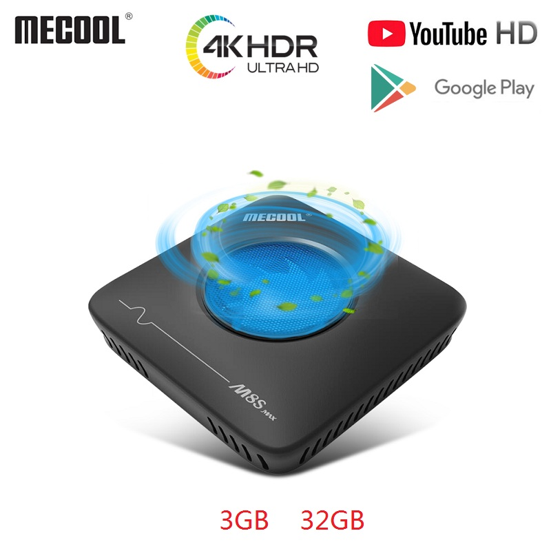 MECOOL M8S Smart TV Box Max Android7.1 Amlogic S912 3GB+32GB 2.4G 5.8G Dual WiFi BT4.0 Set Top Box 4K Ultra HD VP9 H.265 TV Box