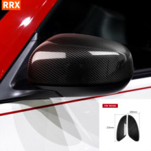 Para nissan 370z z34 2009-2020 reequipamento de carbono espelho retrovisor cobre porta lateral asa modificar adicionar em tampas etiqueta acessórios do carro
