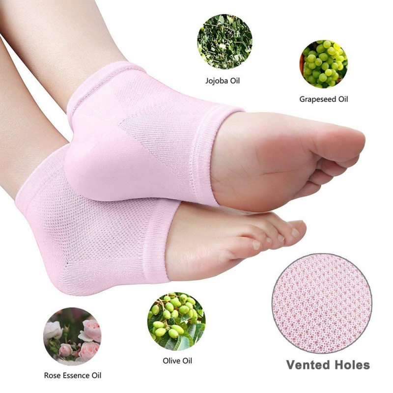 Hot Sell Silicone Moisturizing Gel Heel Socks Cracked Dry Foot Skin Care Protectors Sock 1 Pair/2pcs
