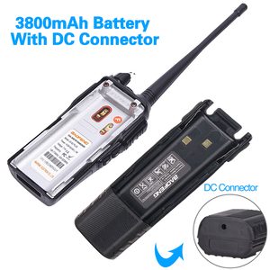 Image 2 - Baofeng UV 82 Plus Walkie Talkie 8W Powerful 3800 mAh Battery DC Connector UV82 Dual PTT Band two way radio 771 tactical Antenna