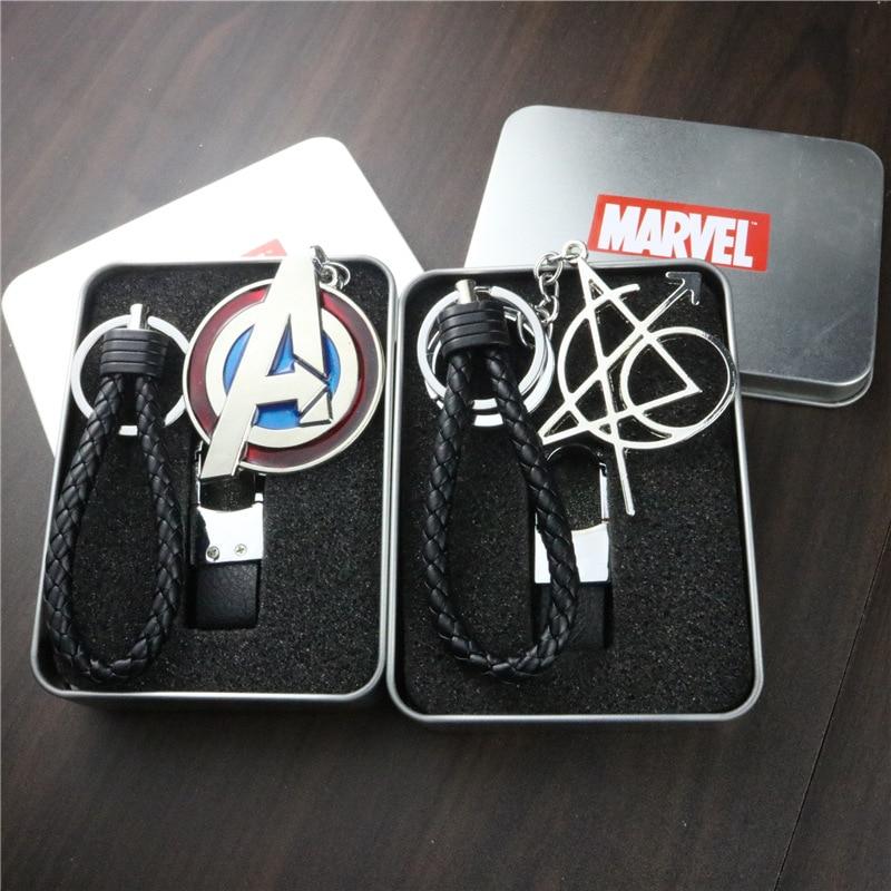 Suitable for Avengers 4 Dr. Keychain Panther Thanos Ant Man Pendant Logo Car Singular Zinc Alloy Metal Key Case for Car     - title=