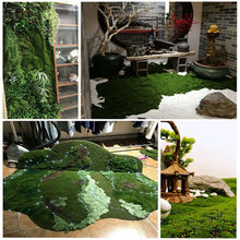 30~200cm Artificial Moss Turf Lawn Fake Moss Micro Landscape Grass Panel Decor Party Home Wedding Decoration Flower Wall Panel