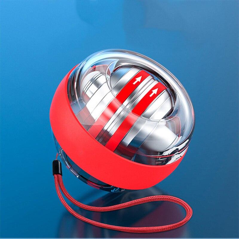 Arco-íris led auto start power ball gyro mudo força de pulso muscular metal trainer relaxar gyroscope bola de energia ginásio exercitador x200d