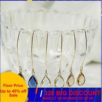 CARTER LISA Chram femmes cristal boucles d'oreilles goutte pour femme boucles d'oreilles goutte d'eau conception corée luxe bijoux HLEZ27000