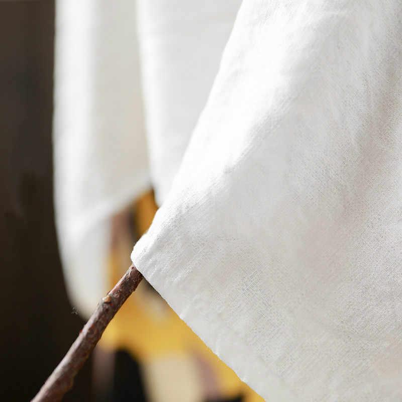 Chất Lượng Cao Plus Kích Thước Trắng Vải Lanh Cotton Nữ Áo Sơ Mi Nữ Tay Ngắn Thun Nữ Phong Cách Hàn Quốc Mỏng Mùa Hè Áo Sơ Mi Blusas