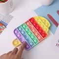 Push-Blase Spielzeug Finger Übung Bord Spaß Stressabbau Autismus Push Blase Sensorischen Spielzeug Anti Stress Squeeze Desktop Puzzle spielzeug