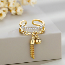 Personality Adjustable Rings For Women Boho Gold Silver Color Wedding Ring White Zircon Irregular Rings Female Jewelry D5T657 viennois silver color rings for woman star rings coffee gold color ring jewelry wedding party female finger rings