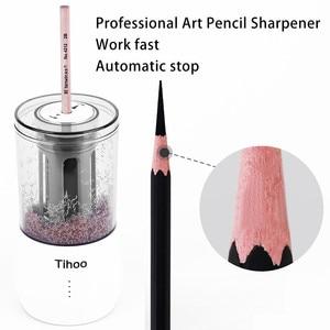 Image 1 - Tenwin القرطاسية التلقائي المهنية Eelectric براية أقلام USB Tenwin الثقيلة الفن رسم تعمل مكتب المدرسة