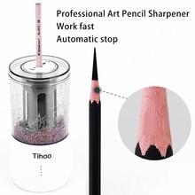 Tenwin канцелярские товары, автоматическая профессиональная электрическая точилка для карандашей, USB, Tenwin, сверхмощный, художественный эскиз, школьный офис