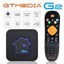 Authentic GTMEDIA G2 TV Box 4K Android 7.1 Ultra HD 2G 16G WIFI Google  IPTV Set top Box Media Player android box iptv box gtmedia gtt2 android 6 0 smart tv box amlogic s905d 2g 8g set top box 4k hd h 265 2 4g wifi media player tv box iptv youtube m3u