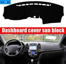 Car Dashboard Cover Mat Pad Sun Shade Instrument Protect Carpet Accessories For Hyundai Santa Fe 2007 2008 2009 2010 2011 2012
