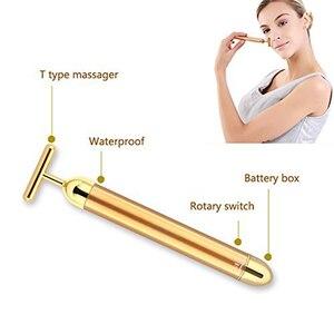 Image 3 - Вибромассажер небольшого размера, инструмент для массажа лица лицевой валик для красоты, вибромассажер для подтяжки кожи, морщин
