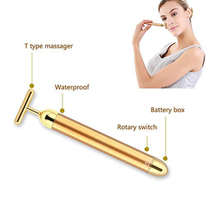 Image 3 - Mały rozmiar Energy upiększacz urządzenie do masażu twarzy rolka kosmetyczna do twarzy masażer wibracyjny Stick Lift napinanie skóry pasek zmarszczek